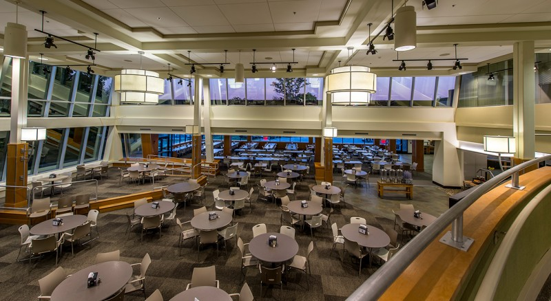 Bryant University, Salmanson Dining Hall Construction