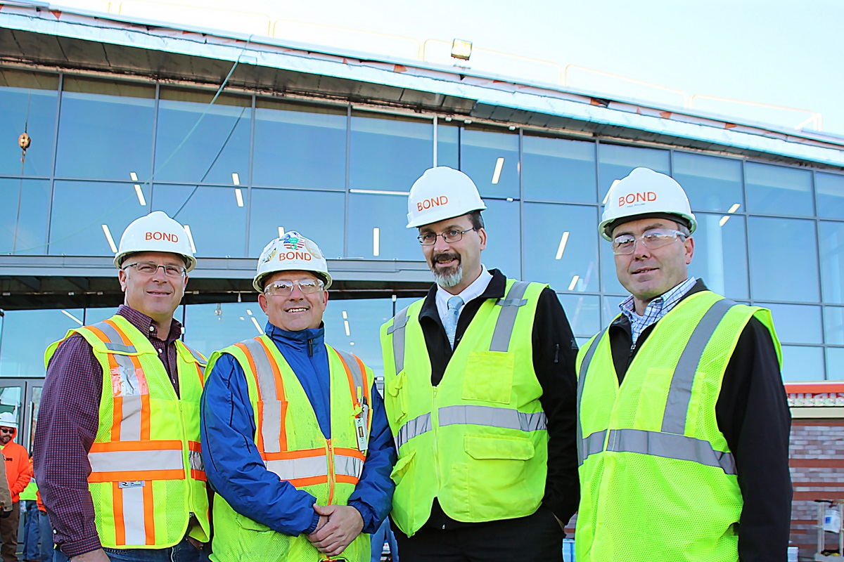 Holy Cross Topping Off project team