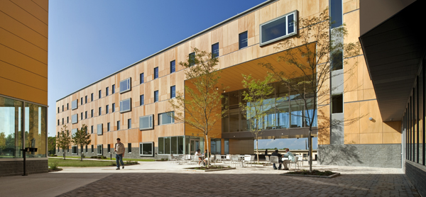 Student Residence Hall, Roger Williams University: Bristol RI, Architect: Perkins + Will